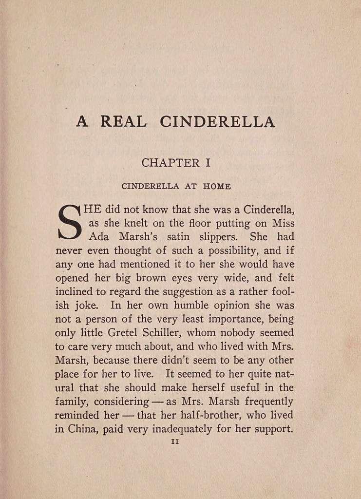 A real Cinderella,
