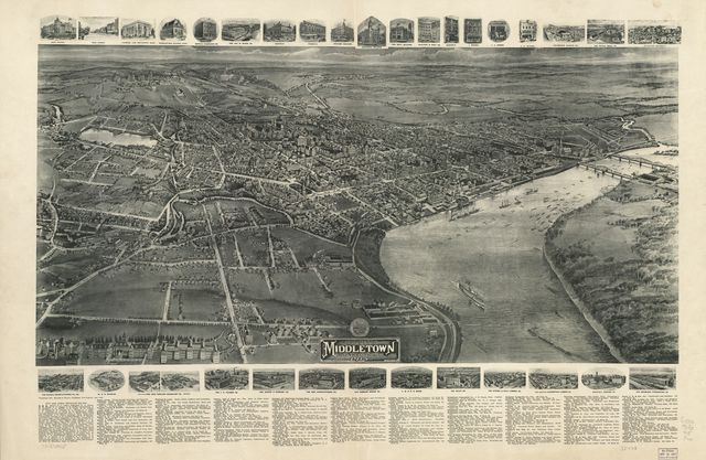 Aero view of Middletown, Connecticut, 1915 /