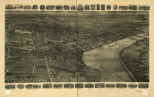Aero view of Middletown, Connecticut 1915 /