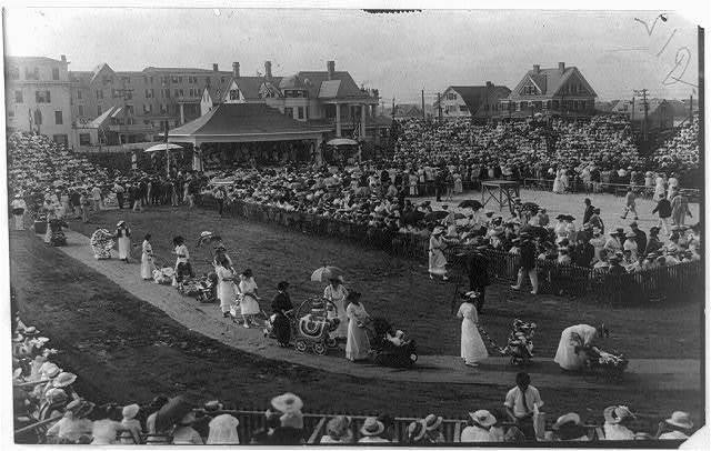 [Asbury Park, New Jersey, baby parade with general scene in court]