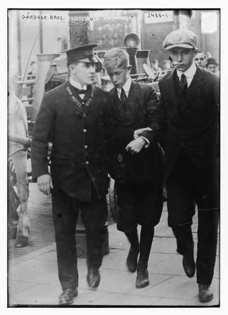 B. and Wm. Gardner, brothers rescued from LUSITANIA, May 24, 1915, Bain Coll., 1915