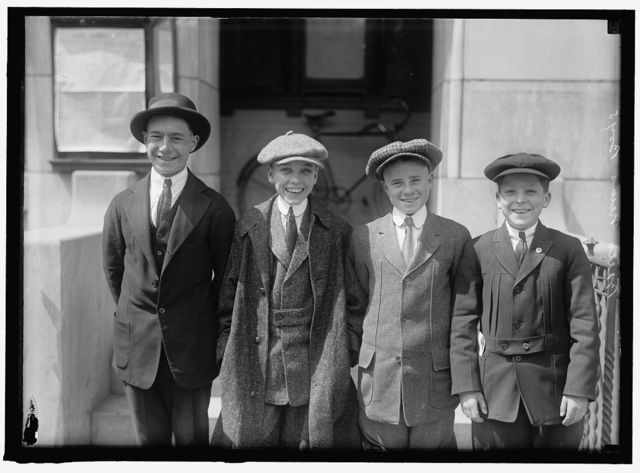 BALTIMORE NEWSBOYS; TWO OF GROUP ARE GEORGE HARRISON AND SAMUEL FRIEDEL