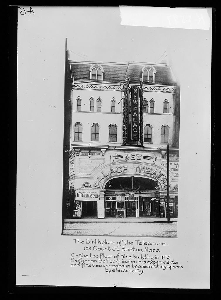 Birth place of telephone, 109 Court St., Boston, Mass ...