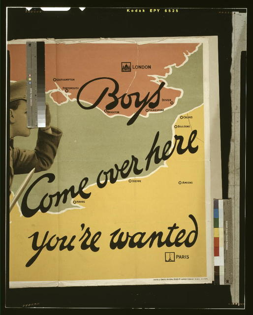 Boys come over here, you're wanted / printed by David Allen & Sons Ld., Harrow, Middlesex.