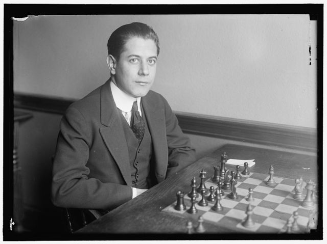 CAPABLANCA, JOSE R. CUBAN CHESS PLAYER; WORLD CHAMPION