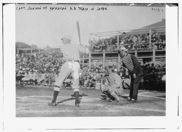 Capt. Johnson of Hawaii b.b.[baseball] team in Japan