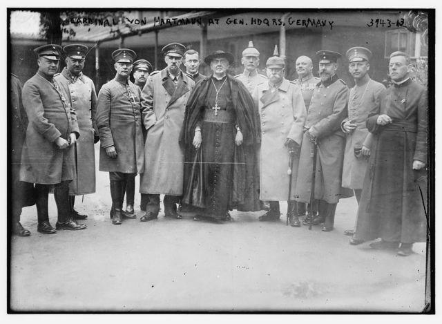 Cardinal von Hartmann at Gen. Hdqrs. Germany
