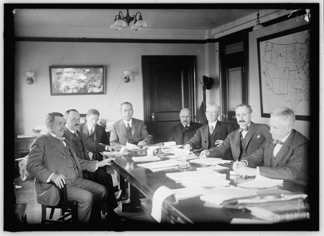 CHAMBER OF COMMERCE OF U.S.A. COMMITTEE ON DEPARTMENT OF COMMERCE: CHARLES C. JENK; C.A. McCORMICK; D.A. SKINNER, ASSISTANT SECRETARY OF CHAMBER; A.W. SHAW, CHAIRMAN OF COMMITTEE; CALVIN M. SMYTH; E. OLIVER FOWLKES; PHILIP B. FOUKE; ELLIOTT H. GOODWIN
