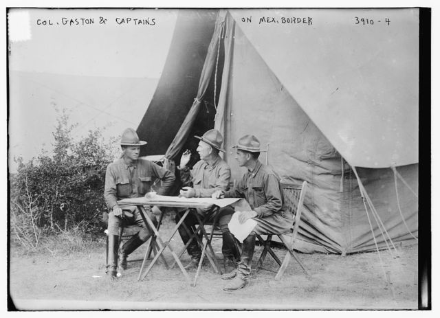 Col. Gaston & Captains on Mex. Border