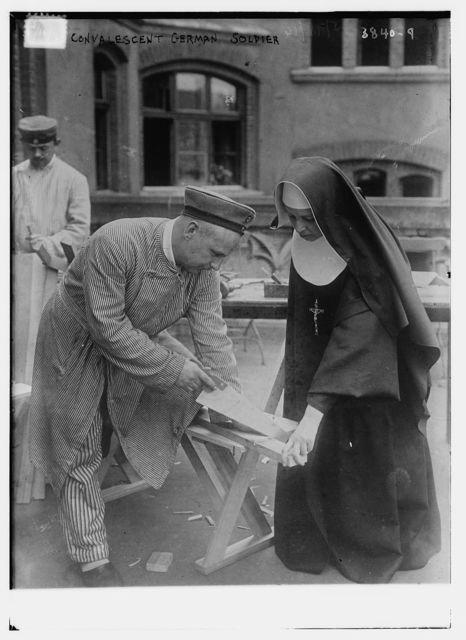 Convalescent German soldier
