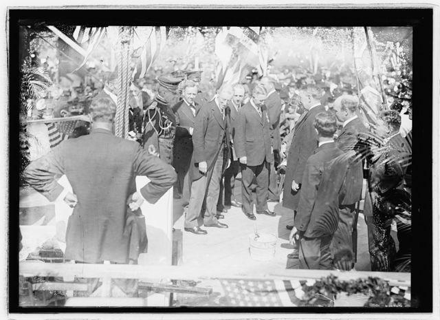 Corner stone laying, Arlington, [Virginia], Oct. 13, 1915
