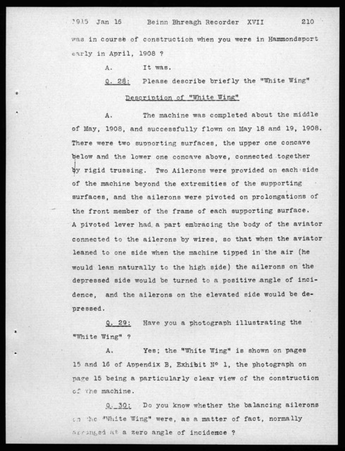 Deposition by Alexander Graham Bell, January 15, 1915