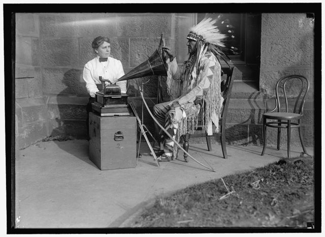 DINSMORE, FRANCES. OF SMITHSONIAN. INDIANS; CANNING MUSIC