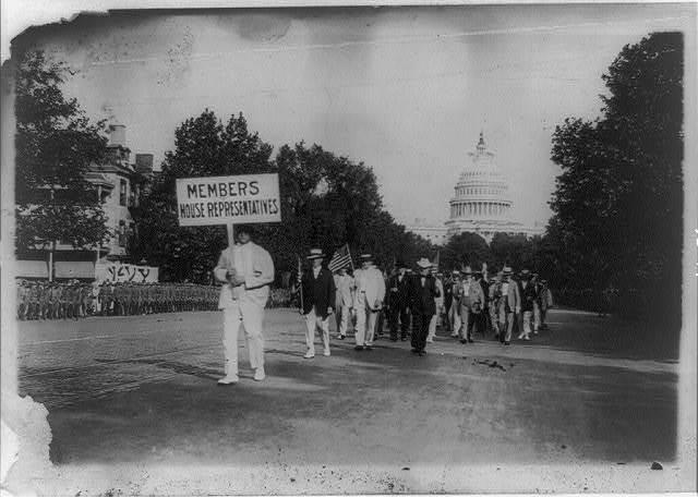 Drafted men parade