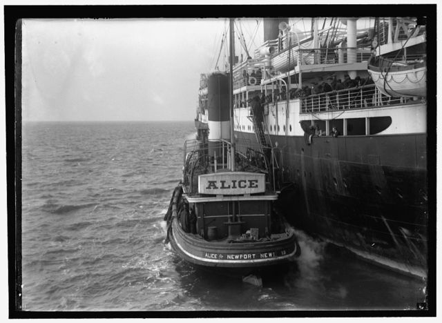 EITEL FRIEDRICH, UNITED STATES NAVY. GERMAN SHIP TAKEN OVER BY U.S. CROWDED WITH CREWS OF CAPTURED SHIPS