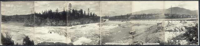 Electric power dam at Thompson Falls, Mont.