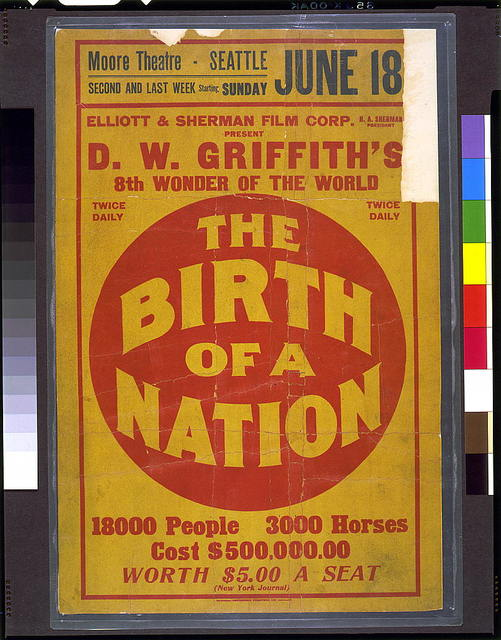 Elliot & Sherman Film Corp. ... present D.W. Griffith's 8th wonder of the world The Birth of a Nation ...