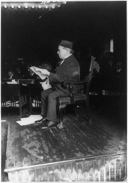 Federal Commission on Industrial Relations, N.Y.C. - Samuel Gompers on stand.