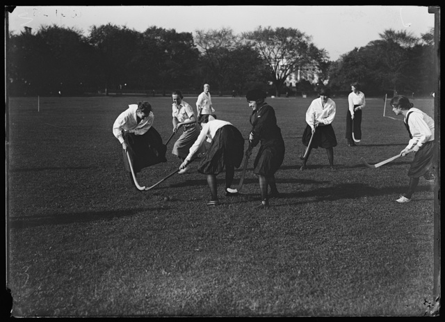[Field hockey near White House, Washington, D.C.]