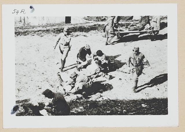 Field hospital scene