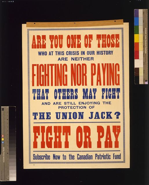 Fight or pay. Subscribe now to the Canadian Patriotic Fund