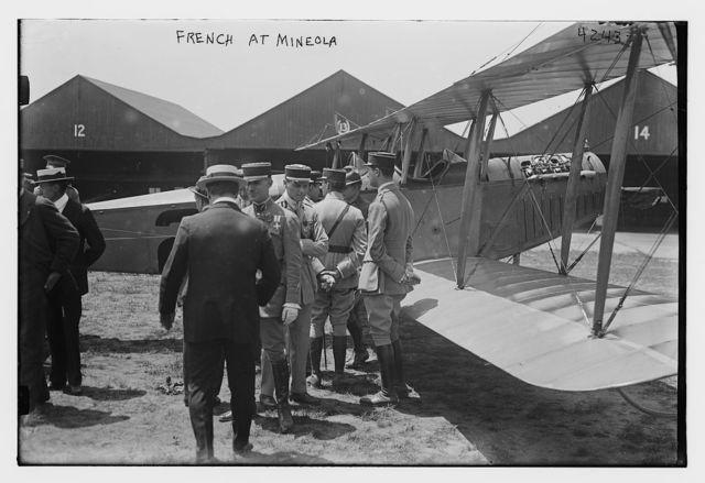 French Army aviators at Mineola