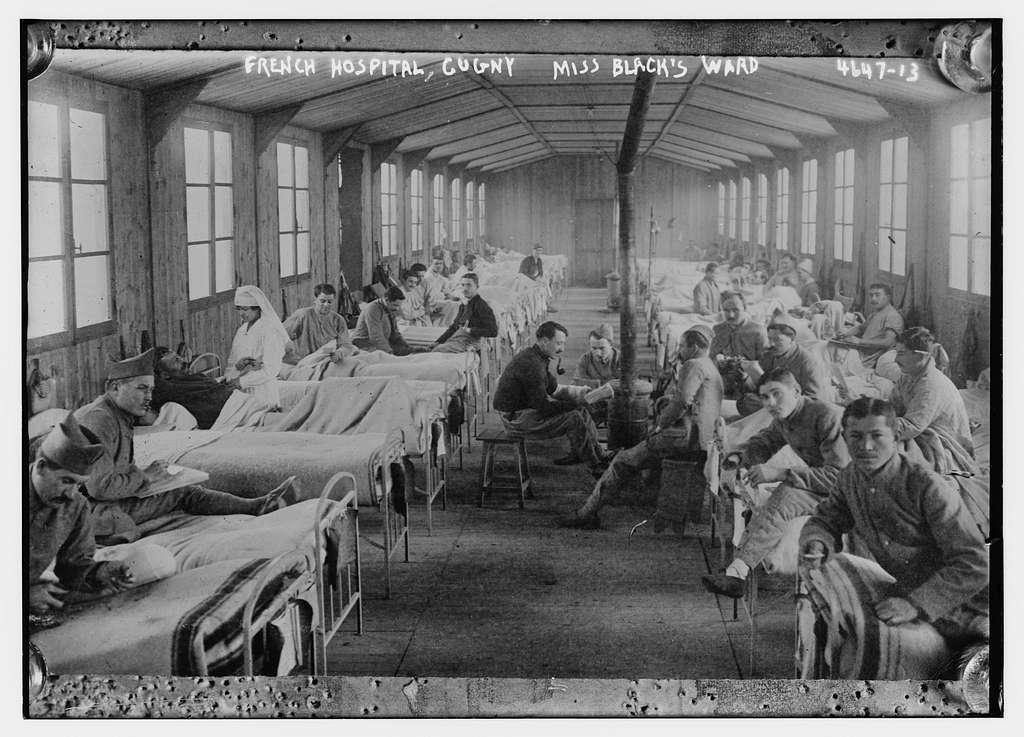 French hospital, Cugny -- Miss Black's ward