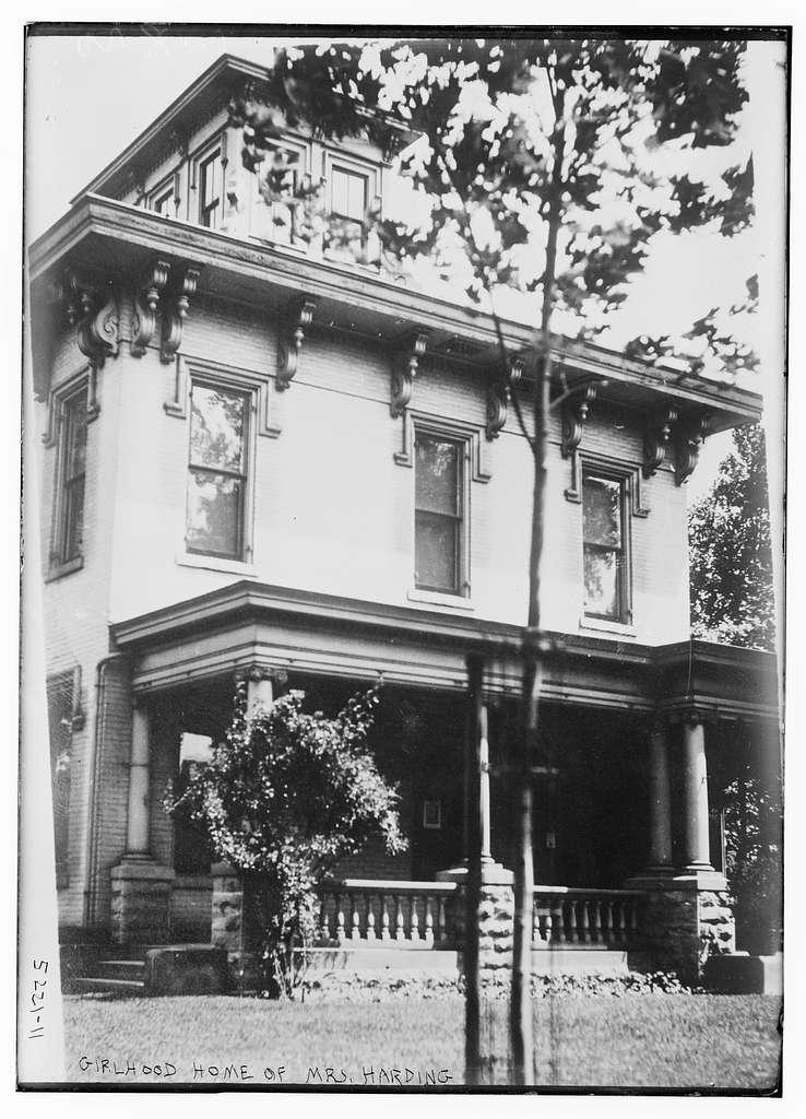 Girlhood home of Mrs. Harding