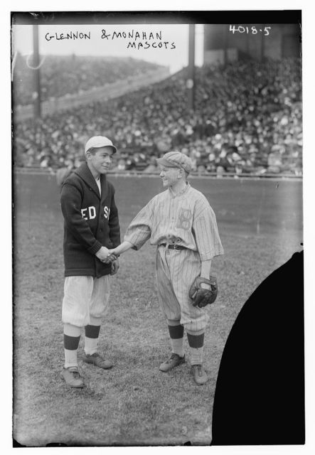Glennon & Monahan, mascots, Red Sox & Dodgers, 1916, World Series