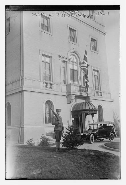 Guard at British Embassy