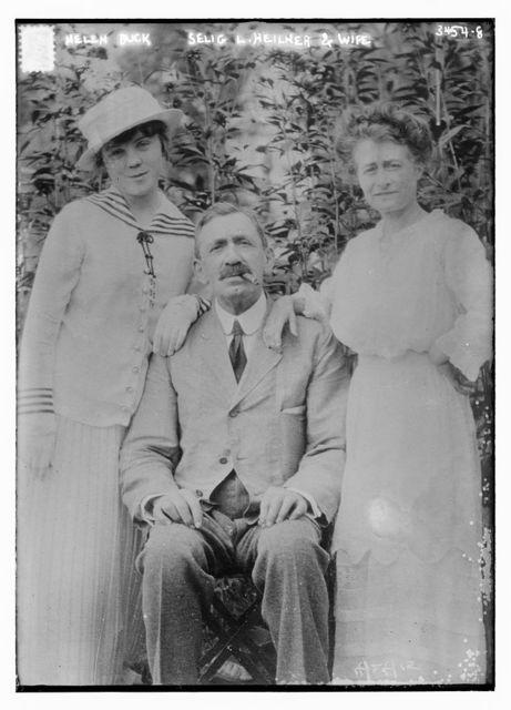 Helen Buck, Selig L. Heilner and wife