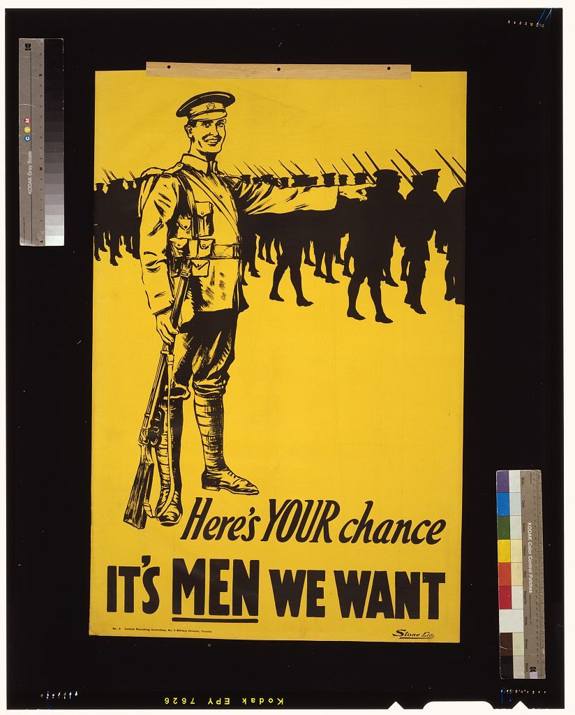 Here's your chance. It's men we want / Stone Ltd.