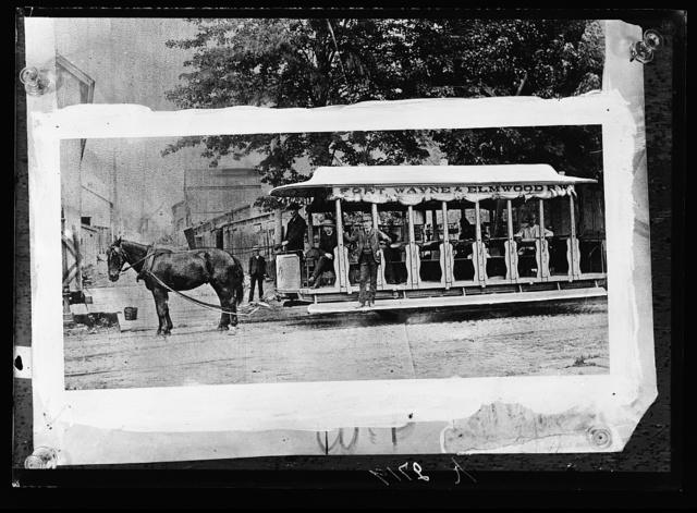 [Horse-drawn street car]