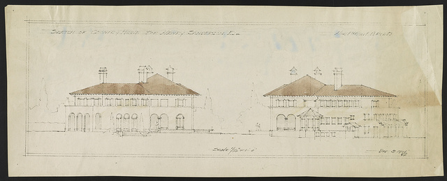 "[House (""La Selva"") for Henry Sanderson, Upper Brookville, Long Island, New York. Two elevations] / Hunt & Hunt archts."