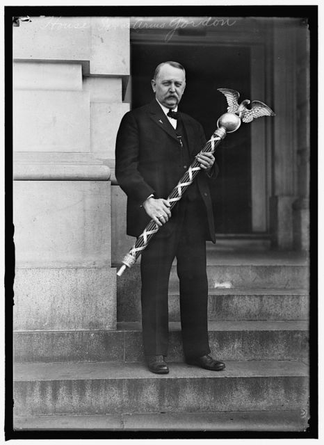 HOUSE OF REPRESENTATIVES SERGEANT-AT-ARMS GORDON WITH MACE