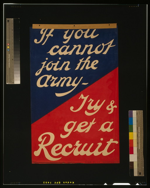 If you cannot join the army - Try & get a recruit / Haycock-Cadle Co., Camberwell.