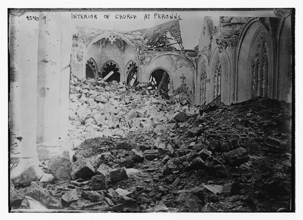 Interior of church at Peronne