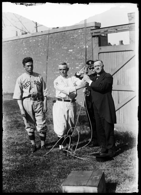 [Josephus Daniels with baseball players]