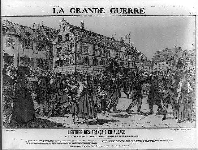 La Grande guerre - l'entrée des français en Alsace