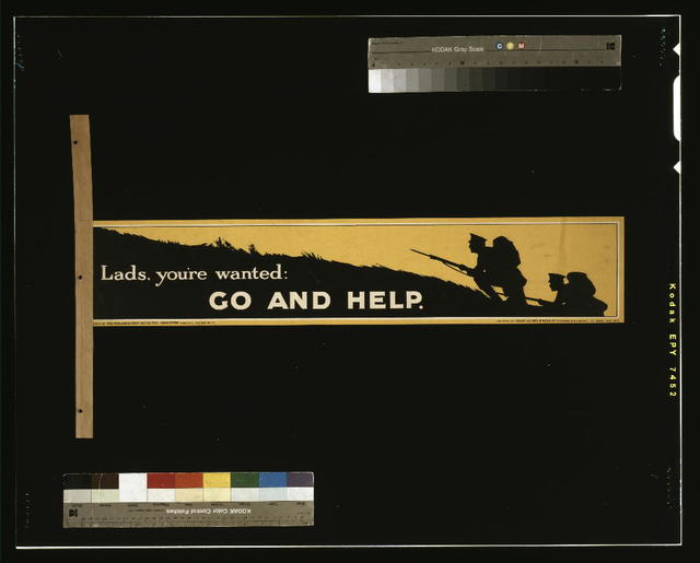 Lads, you're wanted: go and help / printed by David Allen & Sons Ld., Harrow, Middlesex.