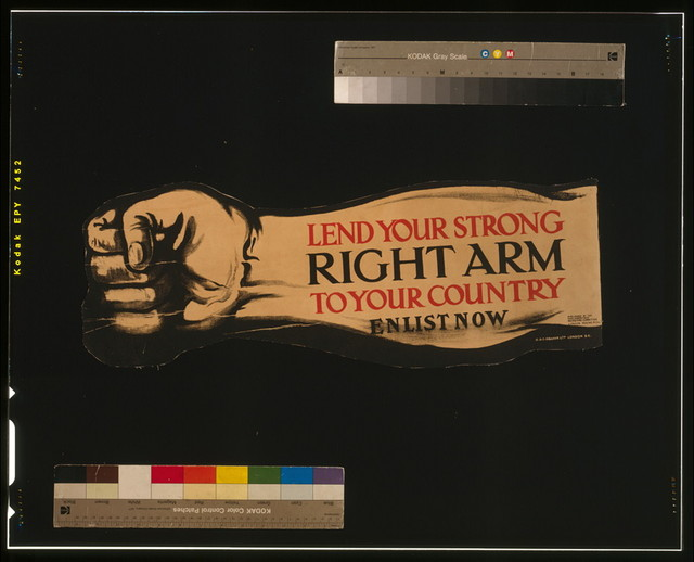 Lend your strong right arm to your country. Enlist now / H. & C. Graham Ltd., London, S.E.