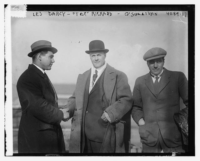 "Les Darcy, ""Tex"" Rickard, O'Sullivan"