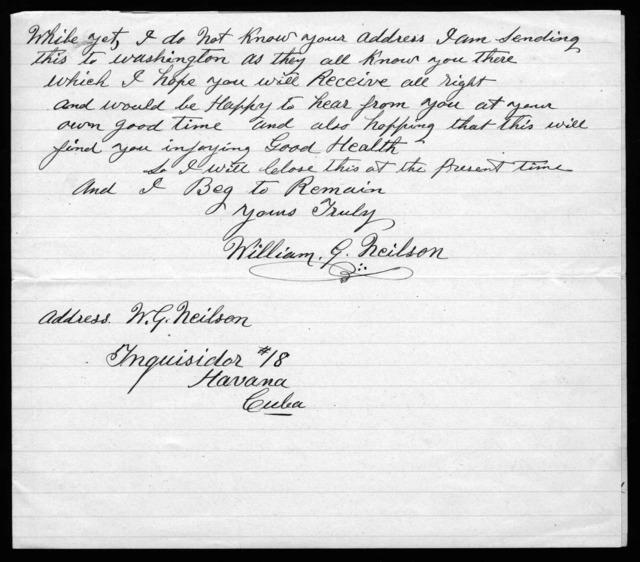 Letter from William G. Neilson to Alexander Graham Bell, November 11, 1915