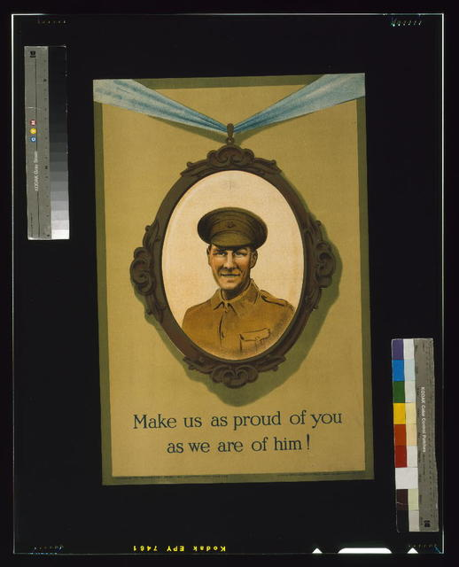 Make us as proud of you as we are of him! / printed by David Allen & Sons Ld., Harrow, Middlesex.