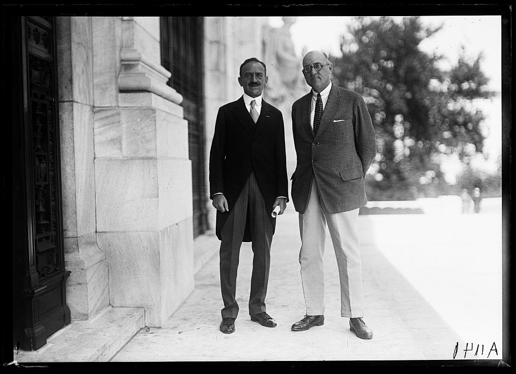[Men at Pan American Union Building, Washington, D.C.]
