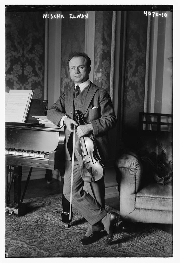 Mischa Elman with violin