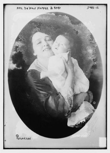 Mrs. De Wolf Hopper and baby