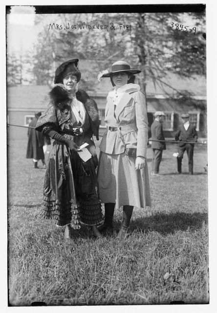 Mrs. Joe Widener & Fifi