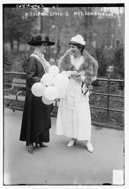 Mrs. Phil. Lydig & Mrs. Geo. Ethridge