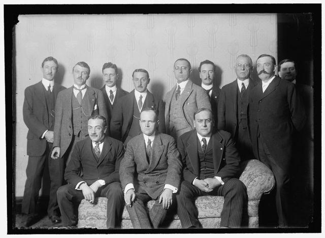 PAN AMERICAN SCIENTIFIC CONGRESS. CHILEAN DELEGATION. SEATED: ENRIQUE CUEVAS; JULIO PHILIPPE, VICE-CHAIRMAN; MOISES VARGAS